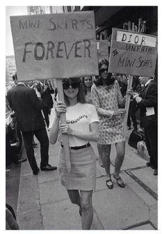 Mini skirts forever  1960