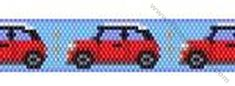 Small Car Bracelet Bead Pattern By ThreadABead