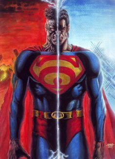 Superman versus Bizarro | Bizarro Superman by edtadeo