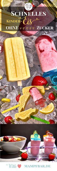 Toll für Kinder: dieses Eis ist ohne Zucker! Klickt hier für das ganz einfache Rezept und weitere leckere Ideen für eure Familie.