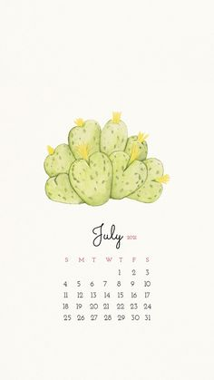 Cactus Backgrounds, Wallpaper Backgrounds, July Background, July Calendar, Happy Birthday Template, Hello July, Calendar Wallpaper, Cute Wallpapers, Iphone Wallpapers