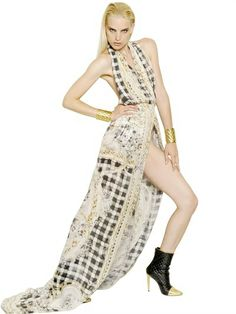 Balmain Silk Crepe De Chine Long Dress on shopstyle.com