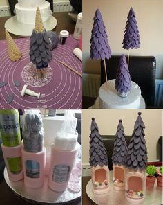 How to make turrets for a castle cake