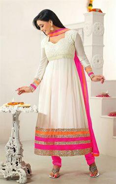Ethereal off White Indian Salwar Suit IDE96025529 - www.indianwardrobe.com