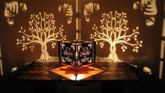 Tree of Life Shadow Lamp Small wood lasercut by pranayadesign