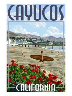 Beach Scene Print at AllPosters.com