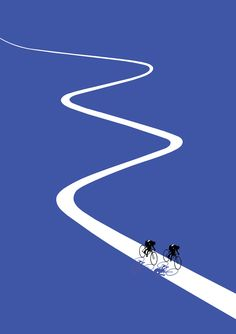 Jason brooks folio illustration sports cycling open road