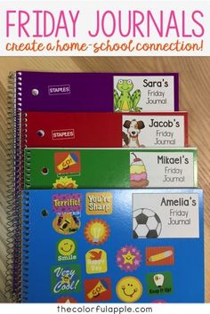 Friday Journals offer a way for students to share their learning with their families. Free templates included!