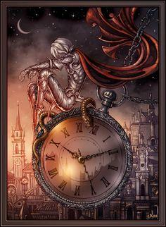 Saint Silver Germain - version by Candra on DeviantArt Art Du Temps, Steampunk Kunst, Steampunk Clock, Throne Of Glass Series, Clock Art, As Time Goes By, Time Art, Dark Art, Mystic