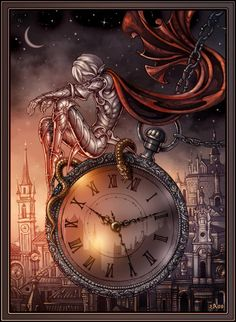 The clock kept winding, winding, winding....as though an invisible force was messing with the gears.