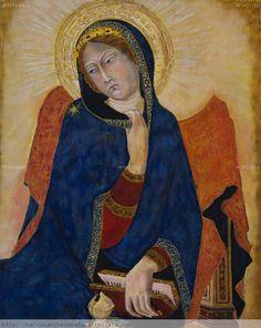 Virgen de la Anunciación de Simone Martini (copia) Óleo Lienzo Figura