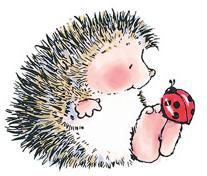 printable - have loved hedgehogs since we lived in Germany. I was ages 7-10 and they are very popular animals and stuffed toys...sort of like our teddy bears.
