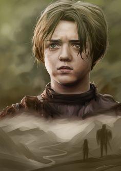 Arya Stark by ElleDrawsAndStuff.deviantart.com on @deviantART