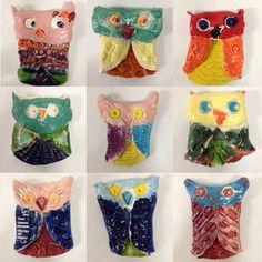 For the Love of Art: Grade Clay Owls Kindergarten Self Portraits, Special Needs Art, Third Grade Art, Clay Owl, Owl Kids, Kids Clay, Clay Art Projects, Scratch Art, Owl Crafts