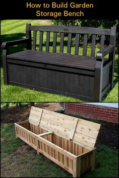 Build Yourself a Comfortable Bench with Great Storage Space for Your Backyard!