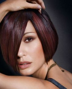dark hair with red highlights pictures