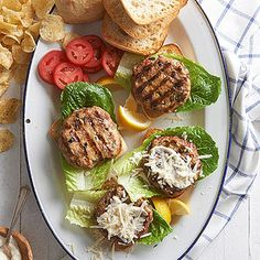 Chicken Caesar Burger From Better Homes and Gardens, ideas and improvement projects for your home and garden plus recipes and entertaining ideas.