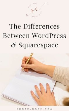 Do you want to create a new website, but are unsure whether to choose WordPress or Squarespace? It's important to think about what kind of website platform you're looking for that suits your unique situation. Click here for the pros and cons of both WordPress and Squarespace. Sugar and Code   WordPress Website Design   Online Business   WordPress For Beginners   WordPress Themes For Bloggers   Blogging Tips   Blogging 101   Blogging For Beginners   Website Template   Website Layout Website Layout Template, Build Your Own Website, Wordpress Website Design, Creating A Blog, Blogging For Beginners, Boss Lady, Online Business, Platform, Coding