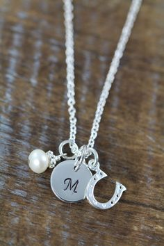 Personalized Flower Girl Horseshoe Necklaces by ShinyLittleBlessings on Etsy Flower Girl Jewelry, Flower Girl Gifts, Horseshoe Necklace, Girls Necklaces, 6 Years, Sterling Silver Chains, Necklace Lengths, Wedding Jewelry, Bridal