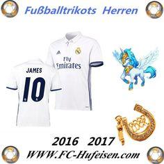 Neue Fussball Trikots Real Madrid Weiß (JAMES 10) Heim Saison 2016 2017 Billig