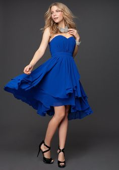 bebe Pleated Strapless Layer Skirt Dress - $179 With a #strapless heart-shaped neckline and asymmetric layered #skirt, this #bebe #bridesmaid #dress accentuates the shoulders and shows off the collarbone. Its #Aline #silhouette and dimensional #silk #chiffon showcase a femininity and gracefulness that looks flatters any figure. Padded bust. Hidden zipper. Fully lined.