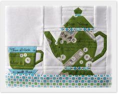 tea time pattern....Hermosos diseños