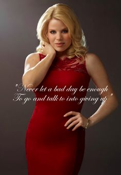 """Never let a bad day be enough, to go and talk you into giving up."" #Smash"