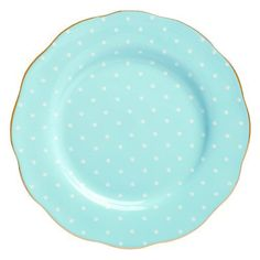Vibrant and vivacious, Polka Blue is a beautiful new addition to the vintage patterns that have made Royal Albert famous the world over. Youthful and exuberant, this Formal Vintage Salad Plate is rendered in fine bone china and combines classic form with intricate detailing, vibrant colors and a lustrous gold rim.