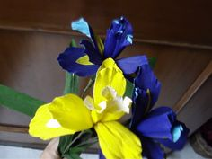How to make paper flower -  Iris / Orchid
