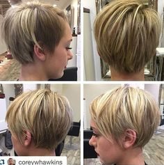 long pixie with highlights