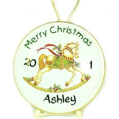 Personalised Fine China Christmas Decoration - Rocking Horse  from Personalised Gifts Shop - ONLY £12.99