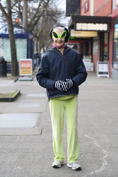ADVANCED STYLE: How To Chase Away The Winter Blues (Space alien sunglasses! I need me some.)
