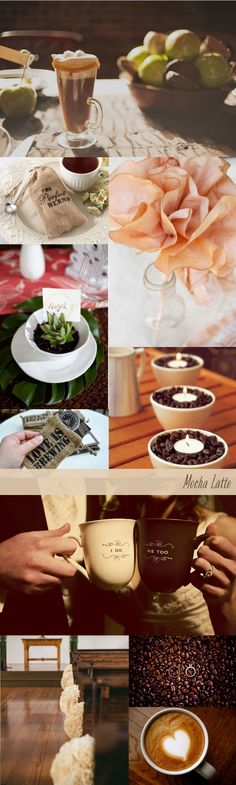 Coffee Mocha Latte Wedding Inspiration Board
