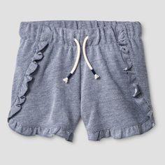 Girls' Ruffle Knit Shorts Cat & Jack - Navy S, Nightfall Blue