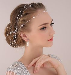 Find More Hair Jewelry Information about Pearl Chain Bride Headdress Ornaments Wedding Wedding Headdress Flower Accessories Head Chain Head Jewelry Free Shipping ,High Quality jewelry emerald,China accessories bridal Suppliers, Cheap jewelry feather from Life is Fashion & Beauty  on Aliexpress.com