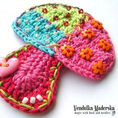 Crochet pattern patchwork mushroom DIY por VendulkaM en Etsy