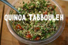 quinoa tabbouleh - lots of parsley, quinoa, cucumber, tomato, lemon and olive oil