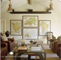 framed maps | The Suite Life Designs