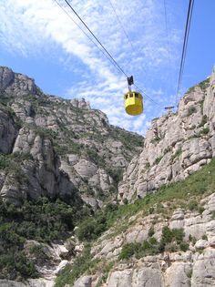 Cable Car, Montserrat , Barcelona , Spain...wish I hadn't had an ear ache on that trip up. Beautiful still!
