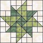 double aster quilt block pattern | Postcard Quilts for the Troops
