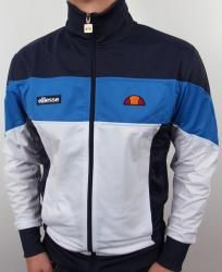 Ellesse Caprione Track Top in White/Royal/Navy Blue