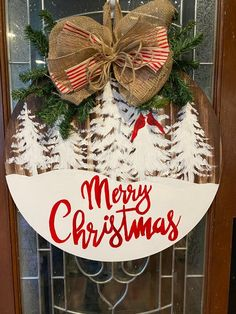 Christmas Signs Wood, Christmas Door Decorations, Christmas Themes, Christmas Wreaths, Christmas Ornaments, Christmas Door Hangers, Diy Christmas Art, Christmas Entryway, Christmas Projects