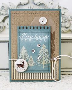 I'm Here For You Card by Melissa Phillips for Papertrey Ink (November 2013)