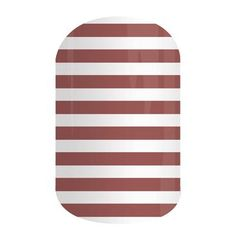 Marsala Stripe  Give your mani a striped look in the trendiest color this season.      #MarsalaStripeJN