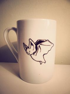 Bat mug for Halloween.   So cute!