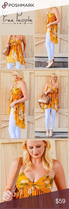 """JUST IN 🆕 """"FLOWY HI-LO"""" TUNIC TANK ▪️Ruched bust detail   ▪️Elastic banded back ▪️Adjustable/Removable spaghetti straps ▪️Hi-lo flowy silhouette ▪️Approx. 27"""" shortest length, 33"""" longest length ▪️100% polyester ▪️Machine wash ▪️Fits true to size  🛍BUNDLE=SAVE  🚫TRADE🚫HOLD🚫MODEL  💯Brand Authentic  ✈️Ship Same Day--Buy By 2PM PST  🖲USE OFFER BUTTON TO NEGOTIATE   ✔️Ask Questions Not Answered In Description--Want You To Be Happy! Free People Tops Tunics"""