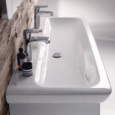 Keramag it! Waschtisch weiß mit Keratect mit 2 Hahnlöchern mit Überlauf - 121935600   Reuter Onlineshop