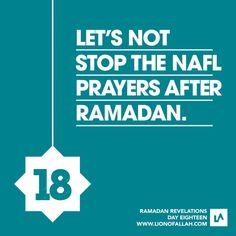 Let's not stop the nafl/sunnat prayers after Ramadhan ~ in sha Allah Dua For Ramadan, Ramadan Tips, Islam Ramadan, Ramadan Mubarak, Quran Surah, Islam Quran, Ramadhan Quotes, Islam Religion, Quran Verses