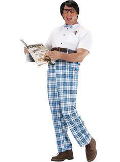 Disfraz de estudiante empollón para hombre