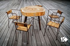 mobilier de terrasse à Roscoff. Table en bois brut, chaises de jardin réalisés par Kinkl au Port du Bloscon   . . . #tabledejardin #artisanat #boisbrut #designfrancais #mobilier #creationunique #woodworking #coffeetabledecor #roscoff #interiordesign #decoboheme #salondejardin #wooddesign #madeinfrance🇫🇷 #sustainablity #designresponsable #ecoresponsable #kinkl #handmade Le Hangar, Deco Boheme, Bar Stools, Hangars, Terrains, Design, Furniture, Decoration, Home Decor